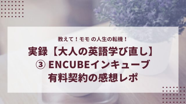 EnCubeインキューブ有料契約レポ